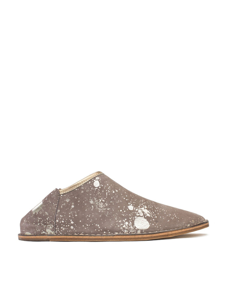 Taupe and gold Splash Slip On