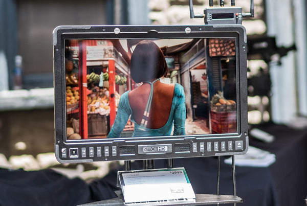 How does the SmallHD 1703 HDR compare to the Panasonic and Sony 17-inch production monitors?