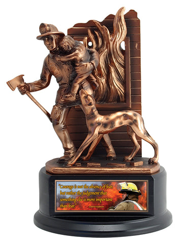 """Fire Fighter"" Distinctive Trophy"