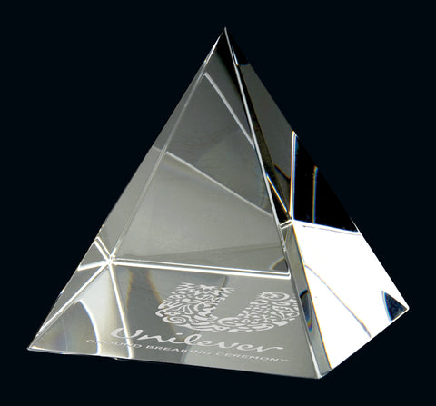 """Pyramid Paperweight"" Crystal Giftware"