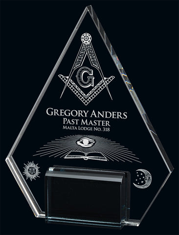 """Marquis Pyramid"" Crystal Award"