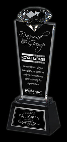 """Solitaire"" Crystal Award"