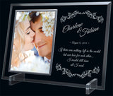 """Glass Photo Frame/Holder"" Sublimated Frame"