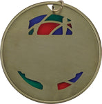 Badminton - Stained Glass Medal