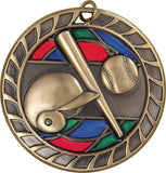 Baseball - Stained Glass Medal