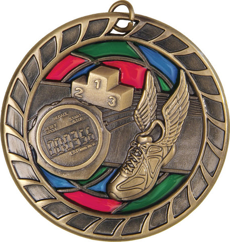 Track - Stained Glass Medal
