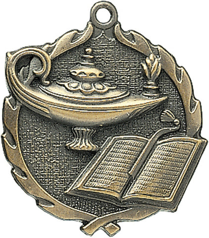 Lamp of Knowledge - Sculptured Medal