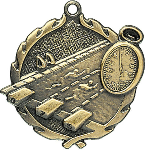 Swimming - Sculptured Medal