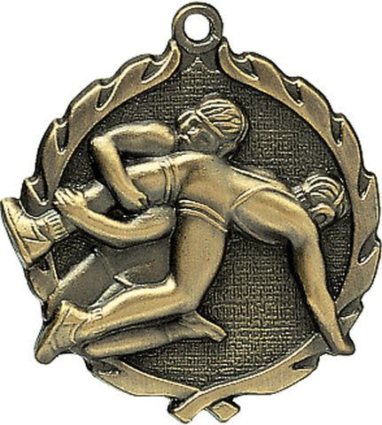 Wrestling - Sculptured Medal