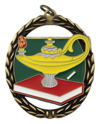 Lamp of Knowledge - Negative Space Medal