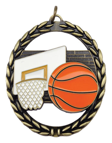 Basketball - Negative Space Medal