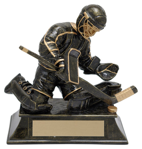 """Aztec Gold Goalie"" Hockey Trophy"