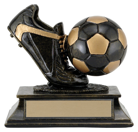 """Aztec Gold Ball and Shoe"" Soccer Trophy"