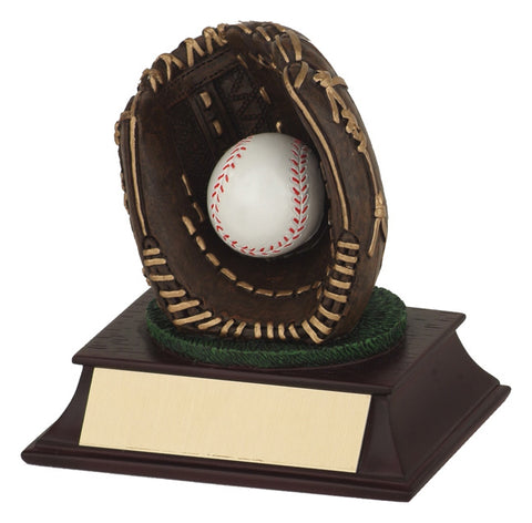 """Glove & Ball"" Baseball Trophy"
