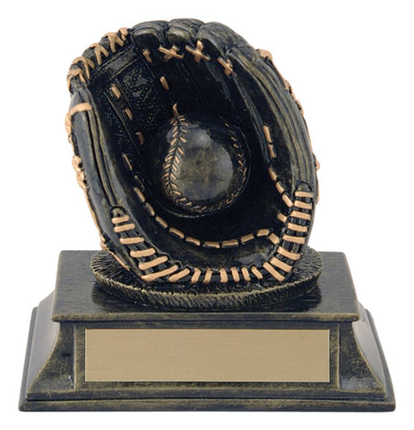 """Aztec Gold Glove and Ball"" Baseball Trophy"