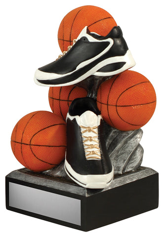 Stacked Balls Basketball Trophy