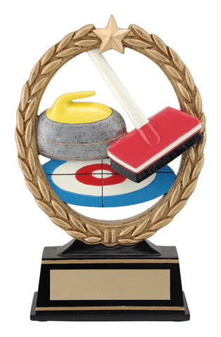"""Negative Space Curling"" Distinctive Trophy"