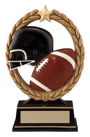 """Negative Space"" Football Trophy"