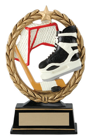 """Negative Space"" Hockey Trophy"