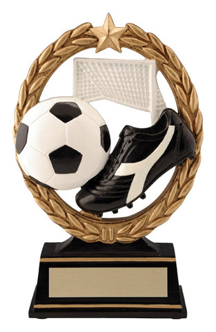 """Negative Space"" Soccer Trophy"