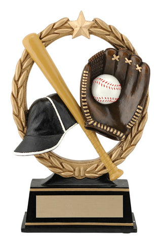 """Negative Space"" Baseball Trophy"