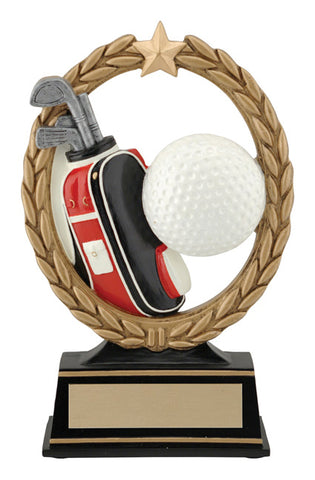 """Negative Space"" Golf Trophy."