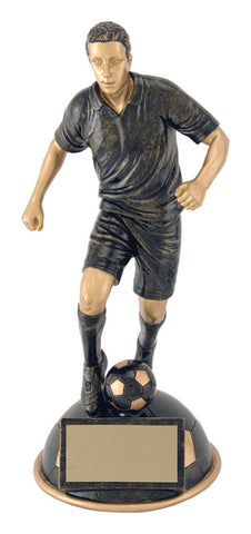 """Aztec Gold Half Ball"" Men's Soccer Trophy"