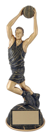 """Aztec Gold Half Ball"" Basketball Trophy"