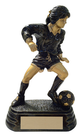 """Aztec Gold Player"" Women's Soccer Trophy"