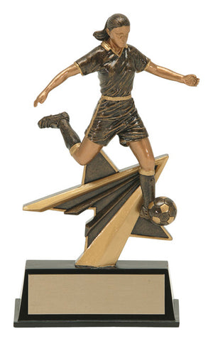 """Star Power"" Women's Soccer Trophy"