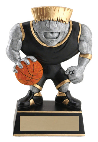 """Muscle Head"" Basketball Trophy"