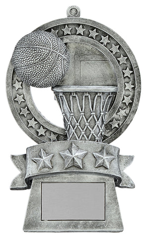 """Star Medal"" Basketball Trophy"