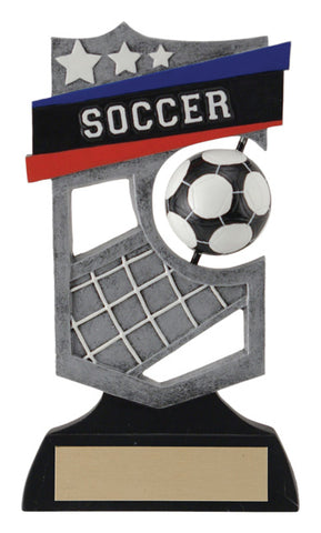 """Shield Spinner"" Soccer Trophy"