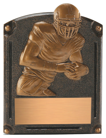 """Legends of Fame"" Football Plaque"