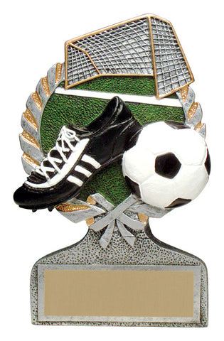 """Vintage Wreath"" Soccer Trophy"
