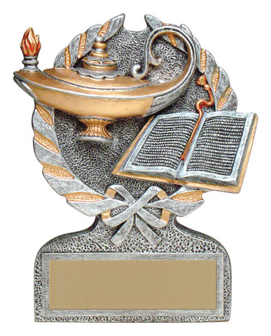 """Vintage Wreath"" Academic Trophy"