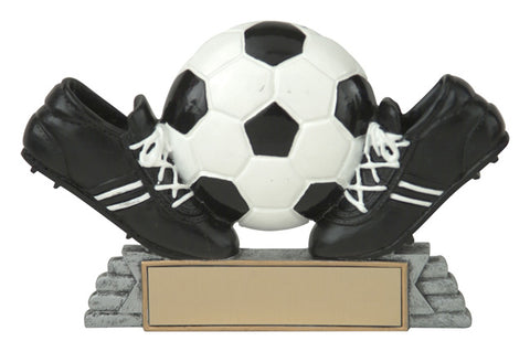 """Classic Ball & Shoes"" Soccer Trophy"