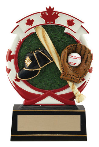 """Maple Leaf"" Baseball Trophy"