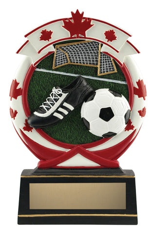 """Maple Leaf"" Soccer Trophy"