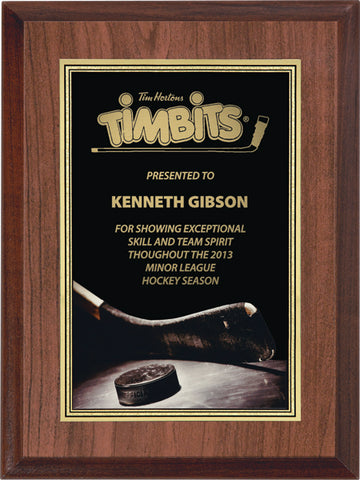 """Hockey"" Activity Plaque"