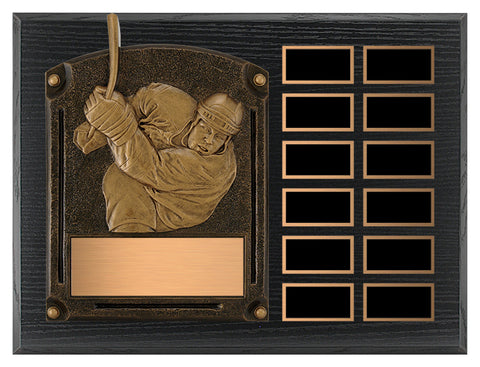 """Legends of Fame"" Annual Hockey Plaque"
