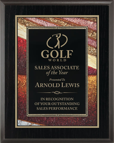 Focus Series Gold Art Plaque