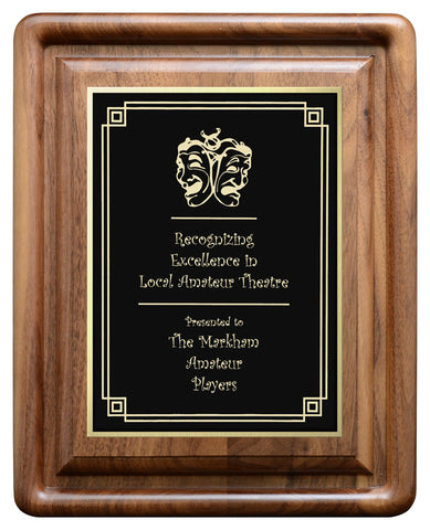 """Gallery Bevel"" Genuine Walnut Annual Plaque"