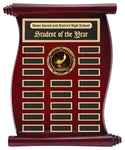 Rosewood Finish Scroll Annual Plaque