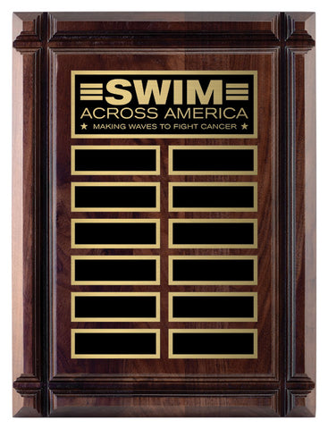Genuine Walnut Deep Groove Annual Plaque