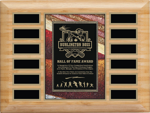 """Art Plate"" Bamboo Annual Plaque"