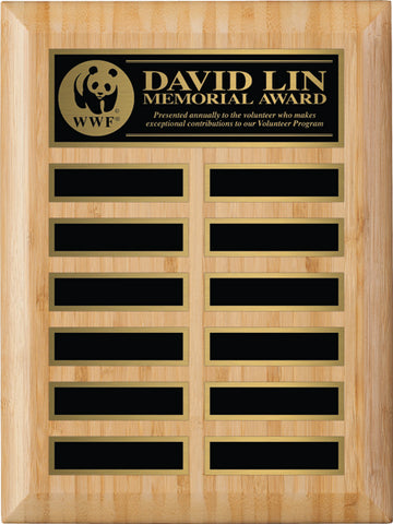 Bamboo Annual Plaque