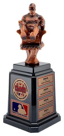 Fantasy Baseball Trophy with Tower Base