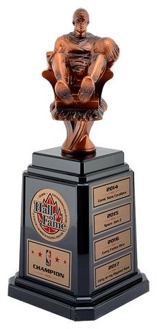 Fantasy Basketball Trophy with Tower Base