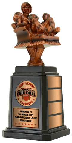 Fantasy Football Trophy with Tower Base